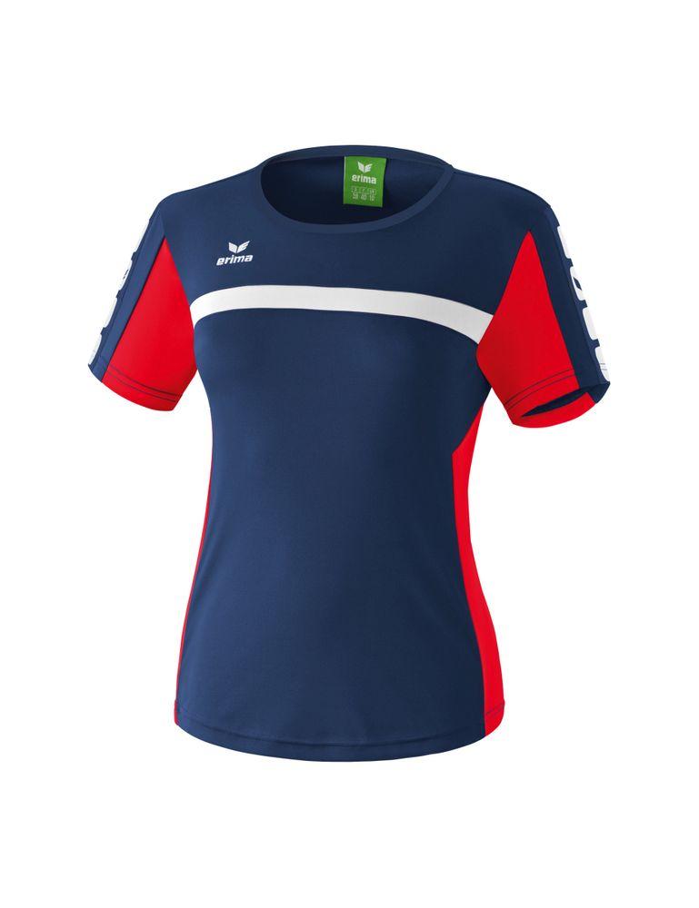 Erima Classic 5-Cubes Series T-Shirt - new navy/red - T-Shirts-Tanks-Damen