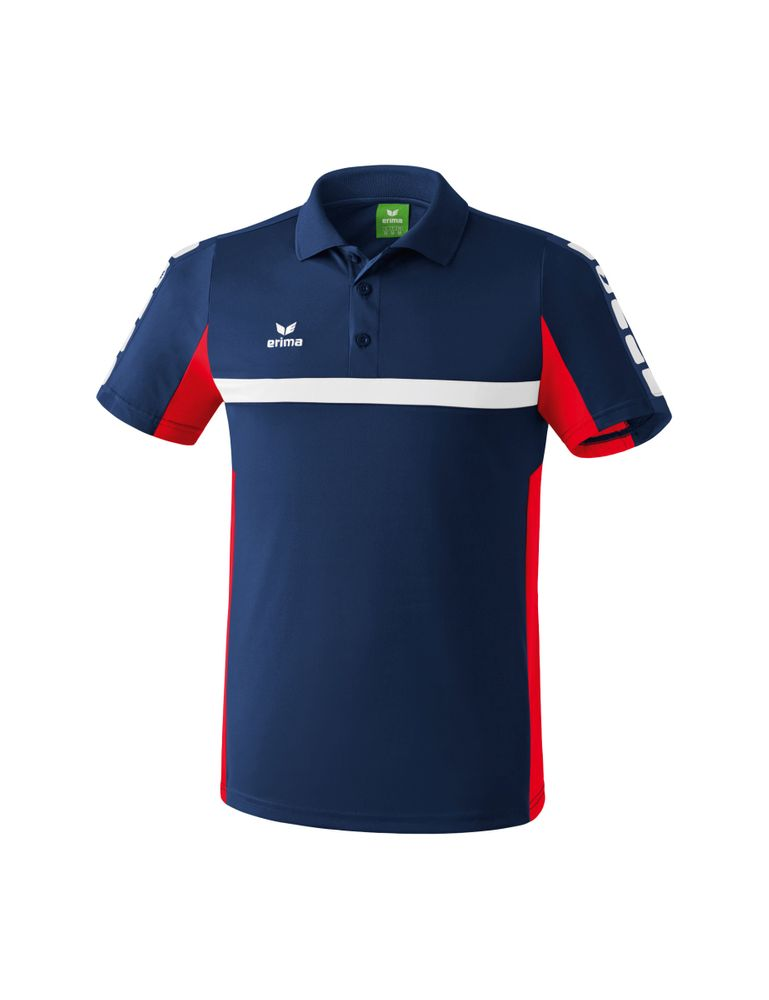 Erima Classic 5-Cubes Series Polo Shirt - new navy/red - Polos-Herren