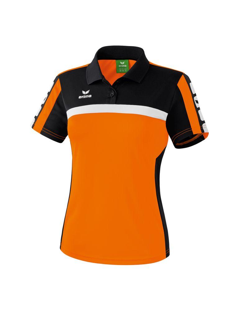 Erima Classic 5-Cubes Series Polo Shirt - orange/black/white - Polos-Damen