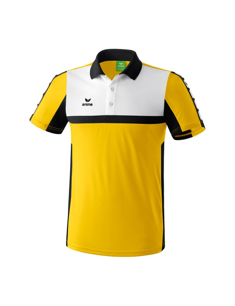 Erima Classic 5-Cubes Series Polo Shirt - yellow/black/white - Polos-Kinder