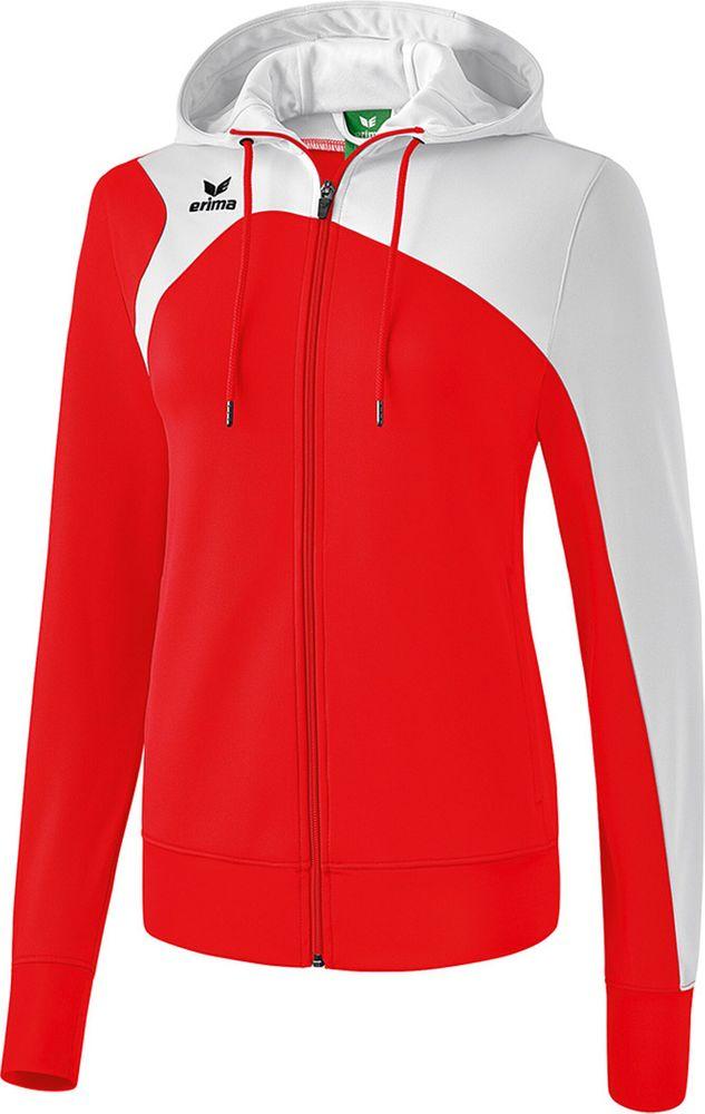 Erima Club 1900 2.0 Trainingjacket W.Hood - red/white - Kapuzensweats-Damen