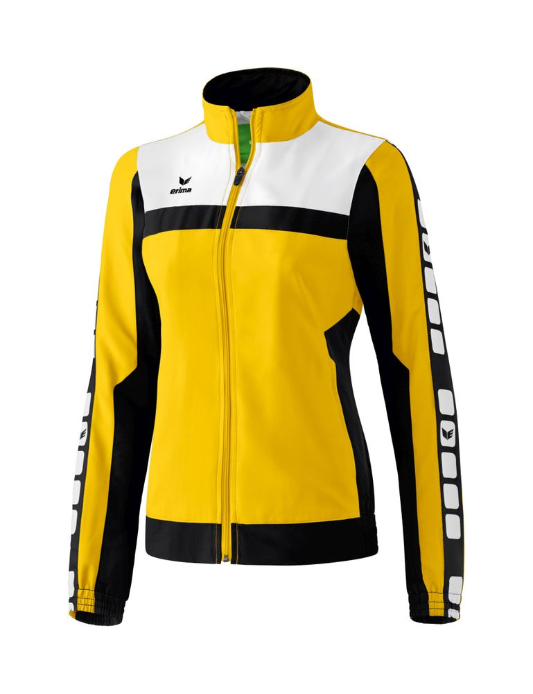 Erima Classic 5-Cubes Series Pres. Jacket - yellow/black/white - Jacken-Anoraks-Damen