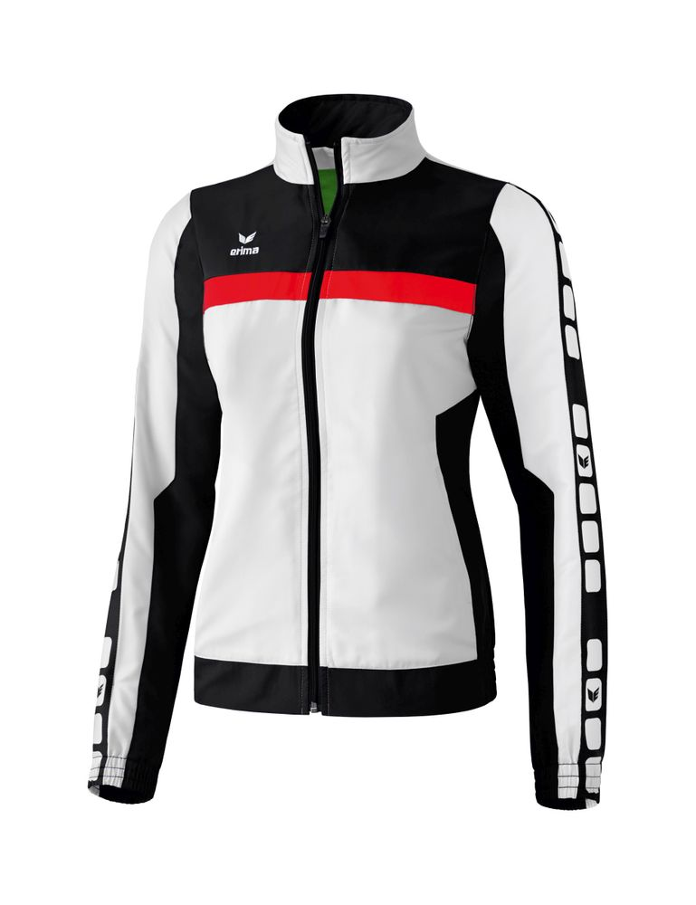 Erima Classic 5-Cubes Series Pres. Jacket - white/black/red - Jacken-Anoraks-Damen