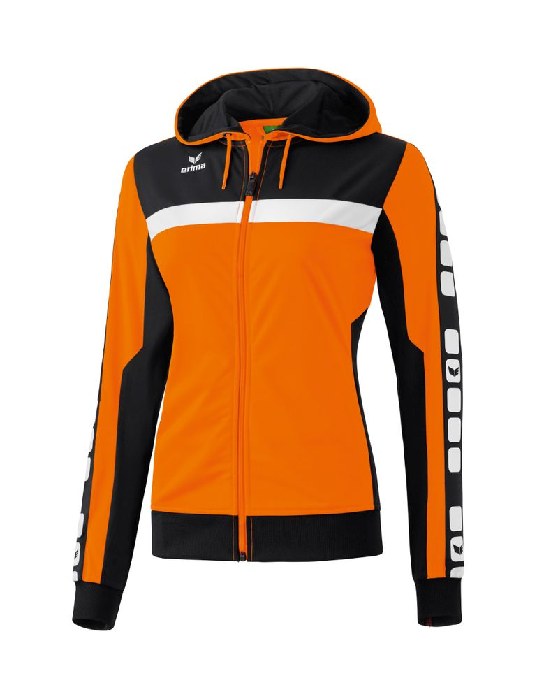 Erima Classic 5-Cubes Series Training Jac - orange/black/white - Jacken-Anoraks-Damen