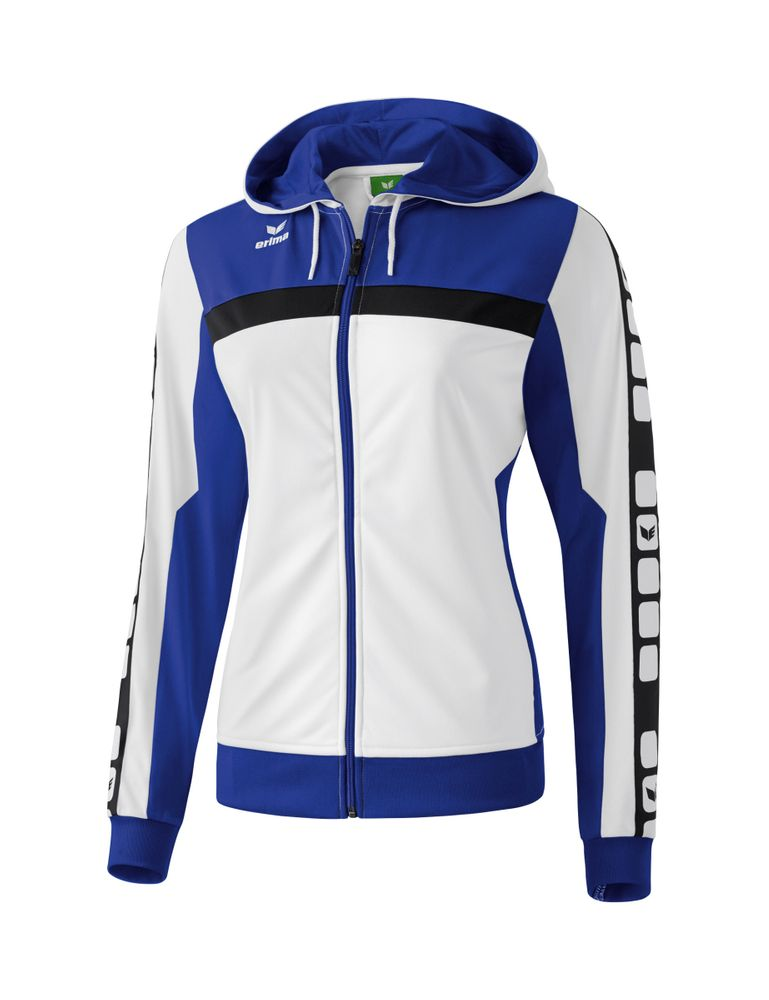 Erima Classic 5-Cubes Series Training Jac - white/indigo/black - Jacken-Anoraks-Damen