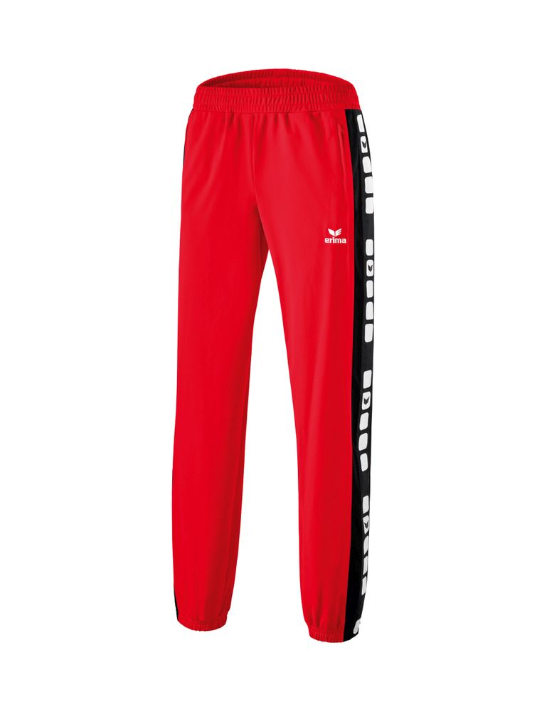 Erima Classic 5-Cubes Series Shiny Pants - red/black - Sporthosen lang-Kinder