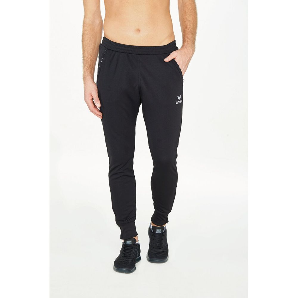 Erima Trainings Pants With Cuff 2.0 - black - Sporthosen lang-Kinder