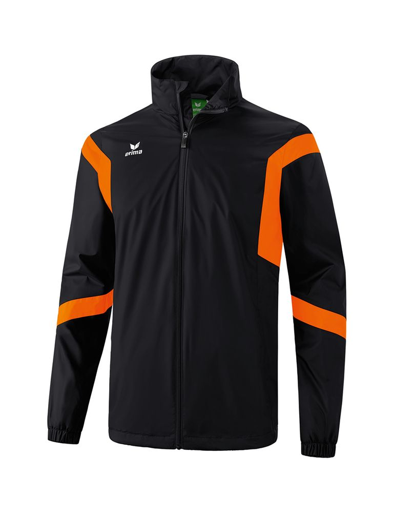 Erima Classic Team All-Weather Jacket - black/orange - Regenjacken-Kinder
