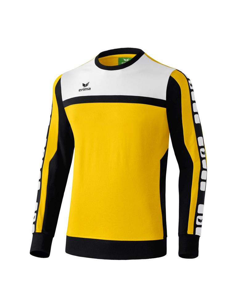 Erima Classic 5-Cubes Series Sweat Shirt - yellow/black/white - Sweatshirts-Kinder