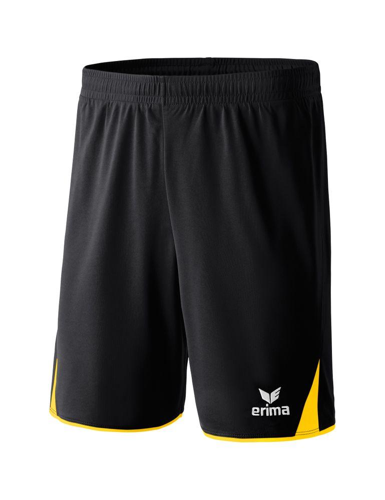 Erima Classic 5-Cubes Shorts With Inner S - black/yellow - Shorts-Herren