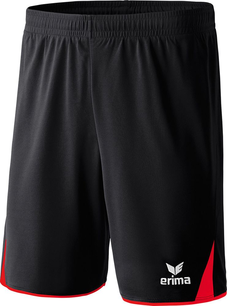 Erima Classic 5-Cubes Shorts With Inner S - black/red - Shorts-Kinder