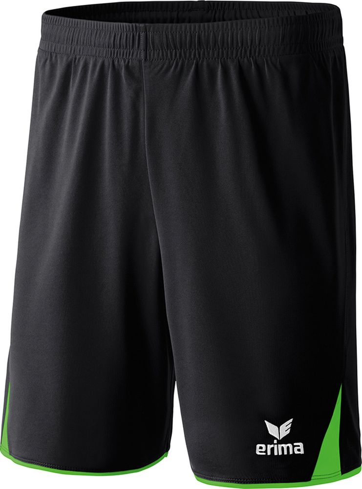 Erima Classic 5-Cubes Shorts With Inner S - black/green - Shorts-Kinder