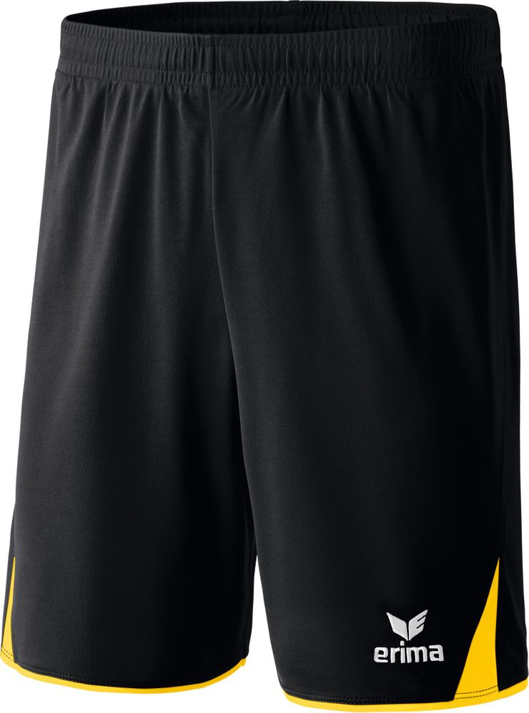 Erima Classic 5-Cubes Shorts With Inner S - black/yellow - Shorts-Kinder
