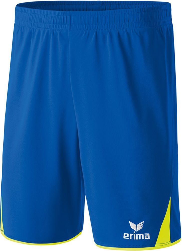 Erima Classic 5-Cubes Shorts With Inner S - new royal/neon yellow - Shorts-Kinder