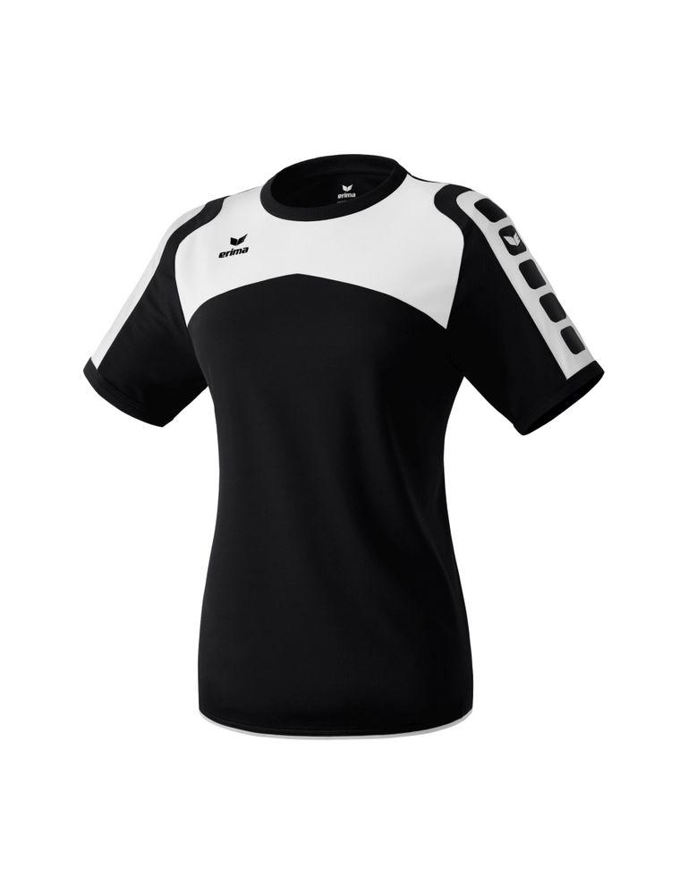 Erima Ferrara Indoor Jersey Short Sleeve - black/white - Trikots-Teamtrikots-Damen