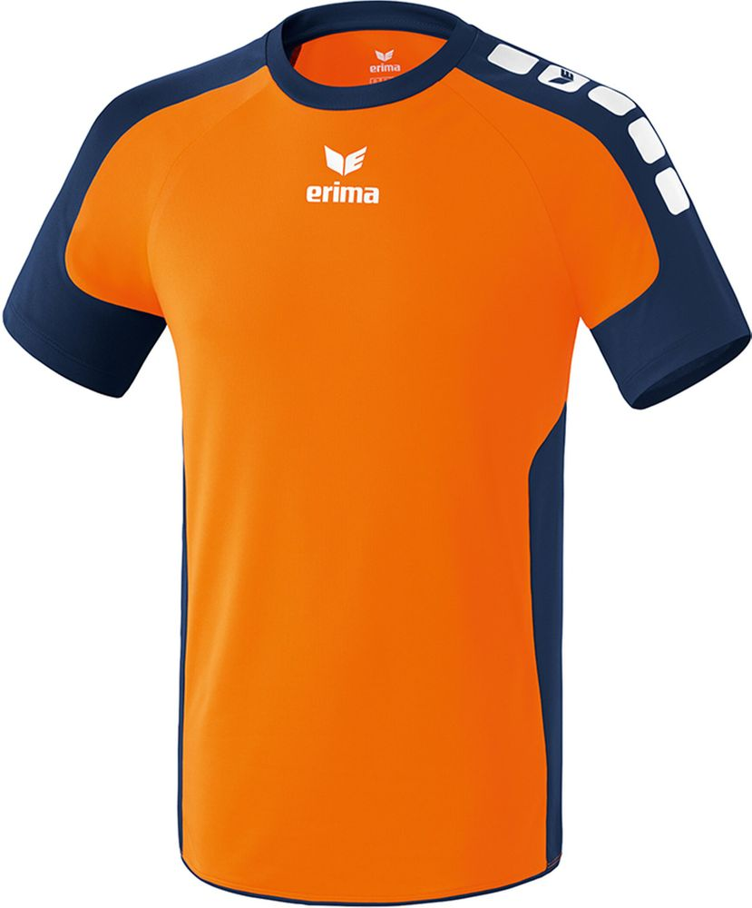 Erima Valencia Indoor Jersey Short Sleev - neon orange/new navy - Trikots-Teamtrikots-Kinder