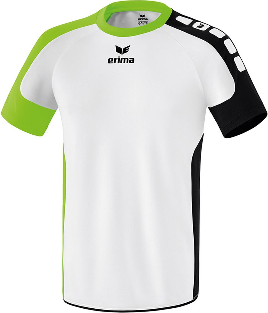 Erima Valencia Indoor Jersey Short Sleev - white/green gecko/black - Trikots-Teamtrikots-Kinder