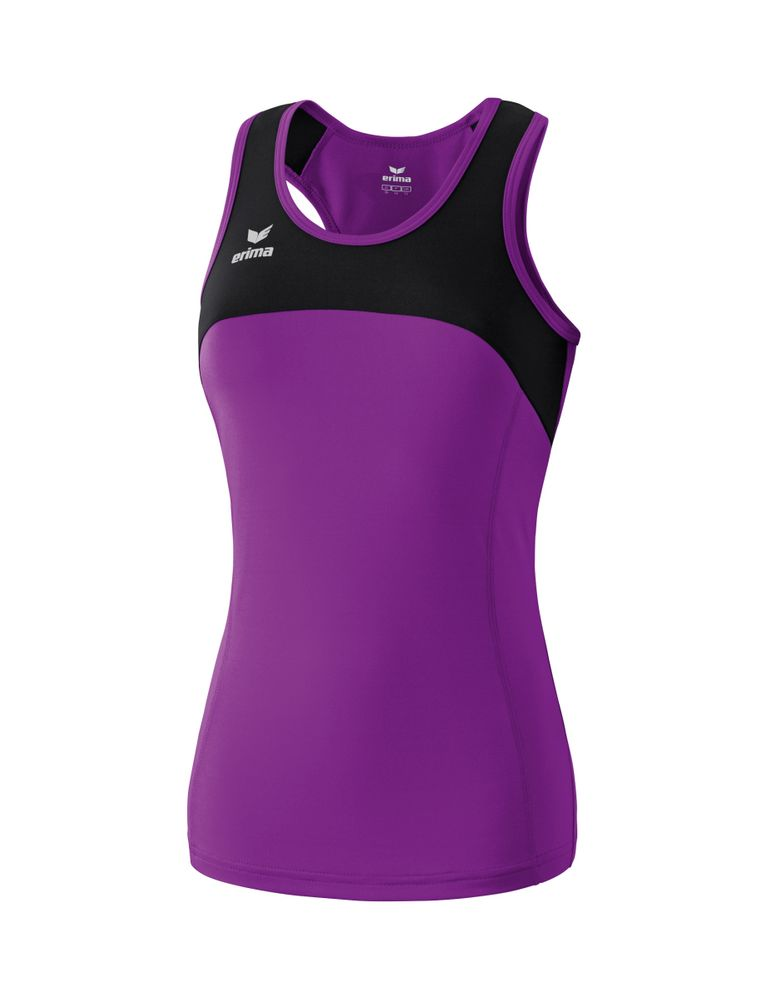 Erima Race Line Running Singlet - purple/black - T-Shirts-Tanks-Damen