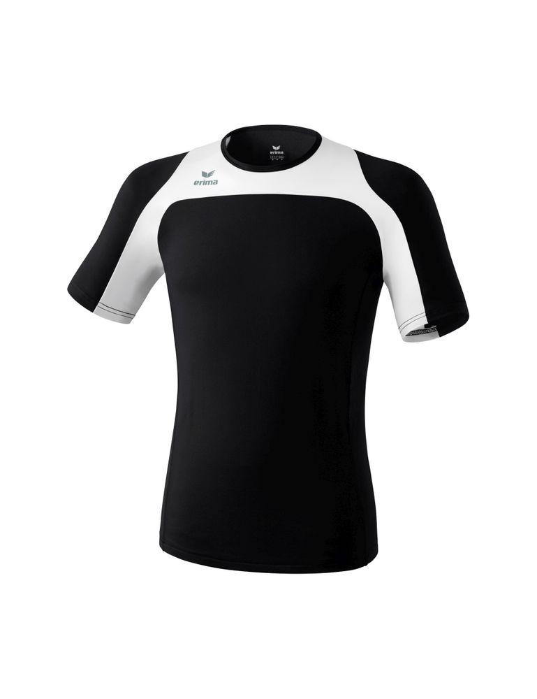 Erima Race Line Running T-Shirt - black/white - T-Shirts-Tanks-Kinder