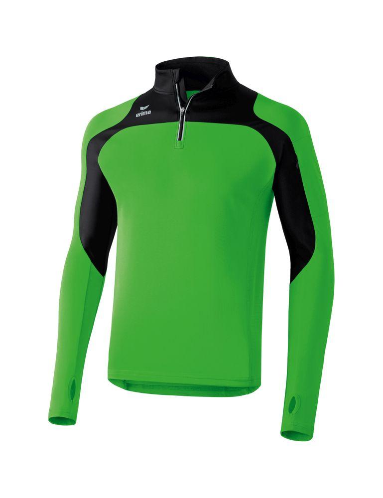 Erima Race Line Running Longsleeve - green/black - Sweatshirts-Herren