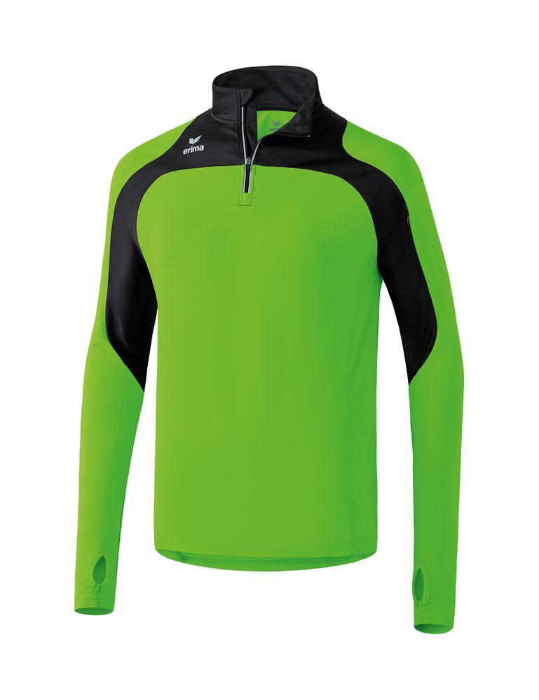 Erima Race Line Running Longsleeve - green gecko/black - Sweatshirts-Kinder