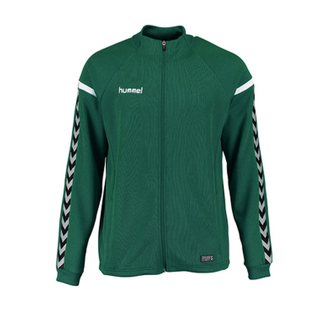 Hummel Auth. Charge Poly Zip Jacket - evergreen