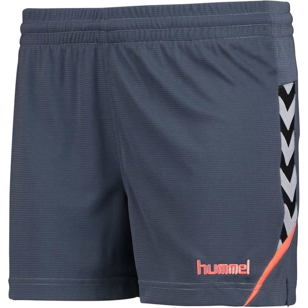 Hummel Auth. Charge Poly Shorts Wo - ombre blue/nasturtium