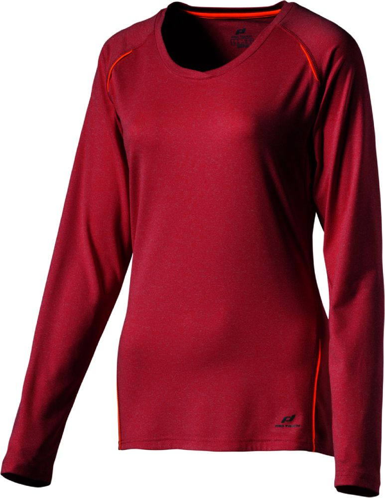 Pro Touch D-T-Shirt Lang Rylunga - rose red mel/autumn