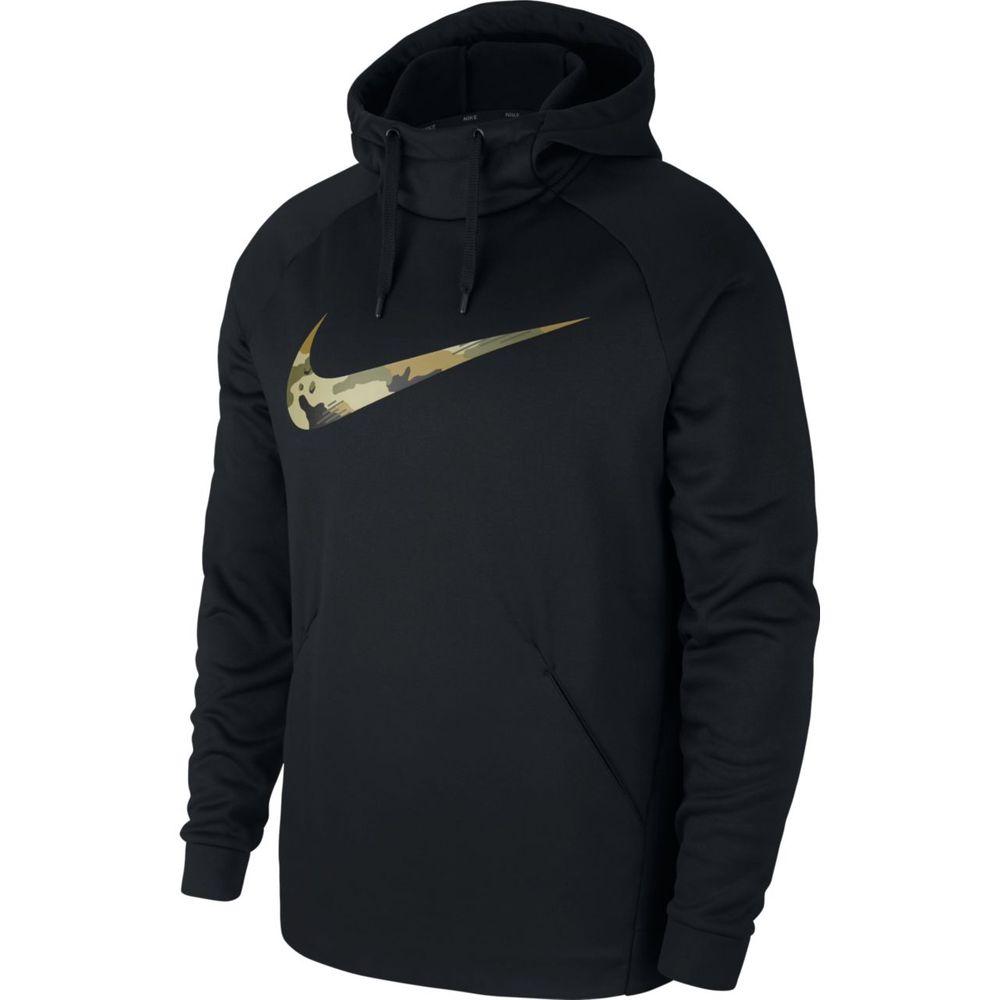 Nike M Nk Thrma Hd Po Cmo - black/olive canvas/olive canva - Kapuzensweats-Herren