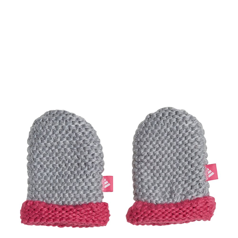 adidas Infants Mittens - mgreyh/reamag/white