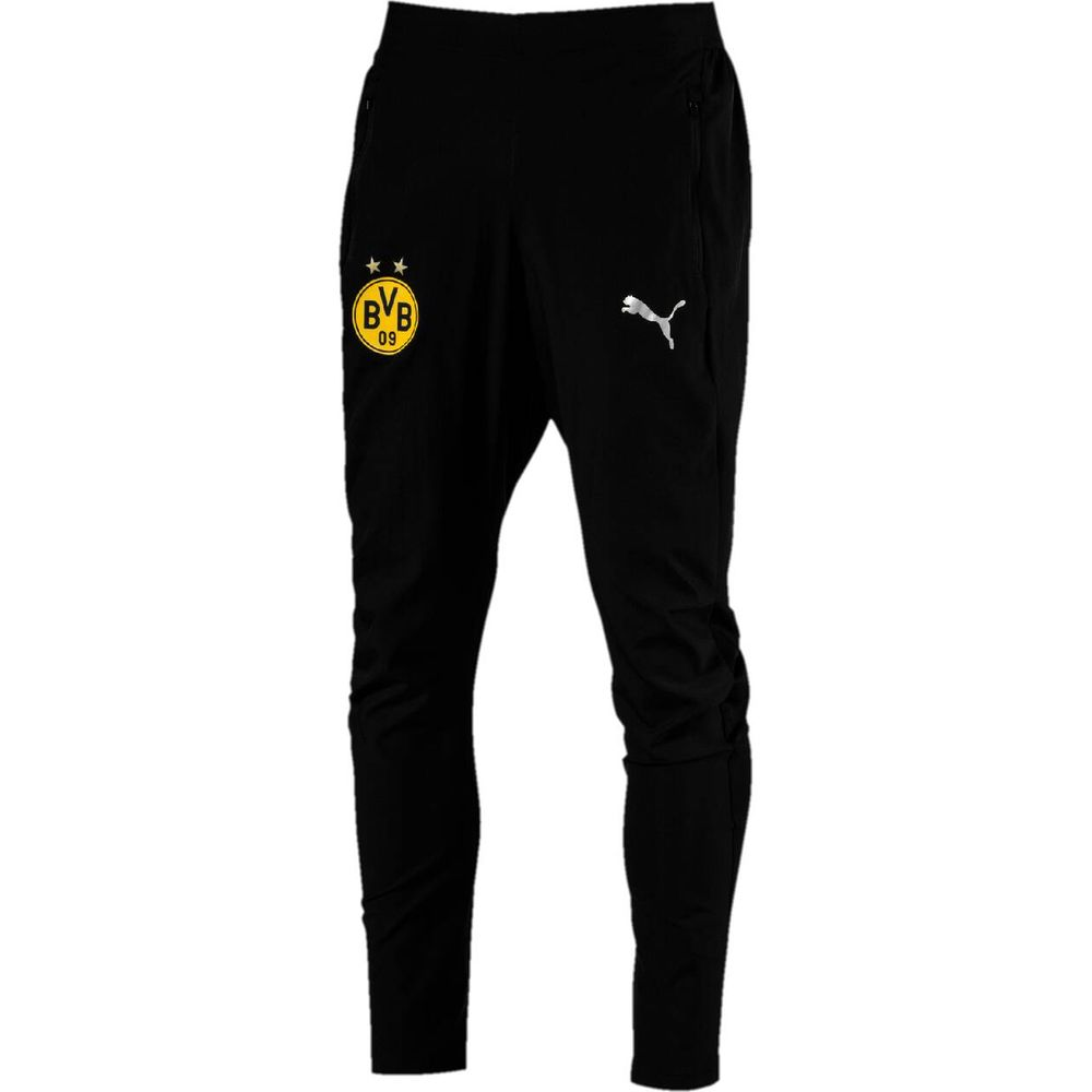 PUMA Herren Trainingshose BVB Leisure Pants with 2 side pockets with zip with elastica