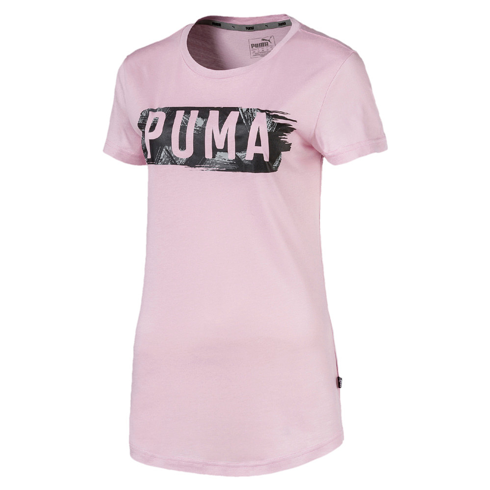 Puma Fusion Graphic Tee - winsome orchid