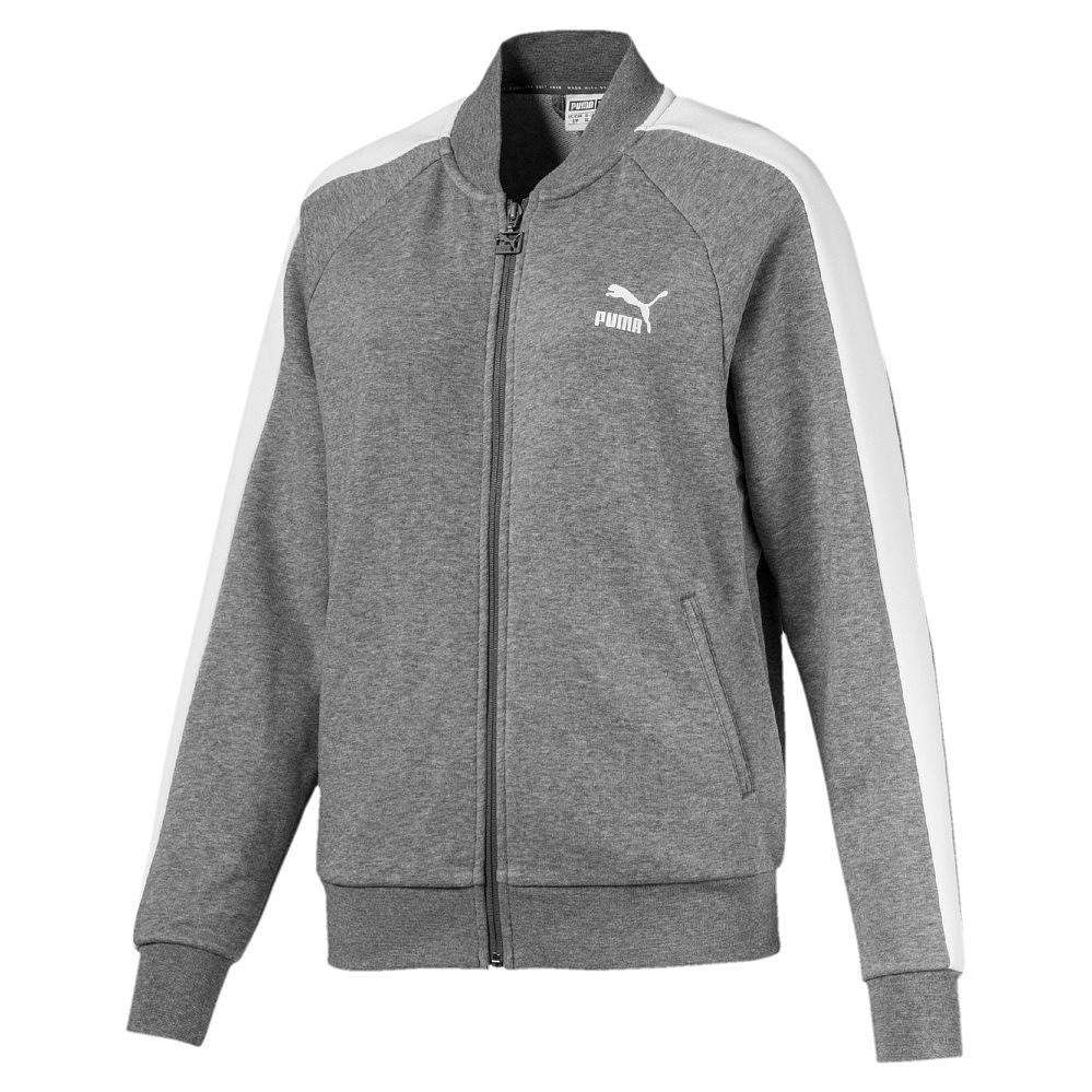 Puma Classics T7 Track Jacket, - medium gray heather