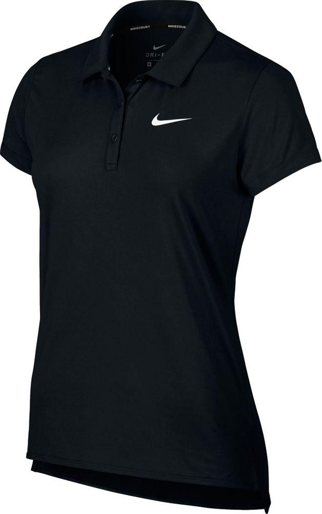 Nike W Nkct Polo Ss Pure - black/white