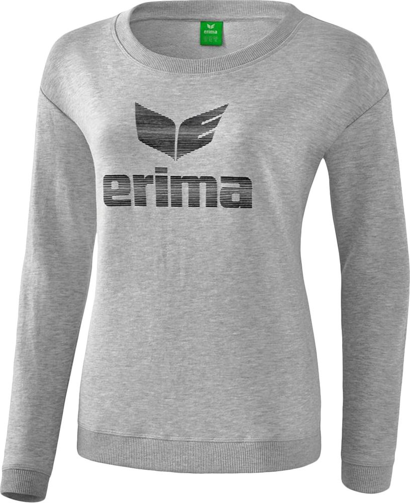 Erima Essential Sweatshirt - light greymelange/black