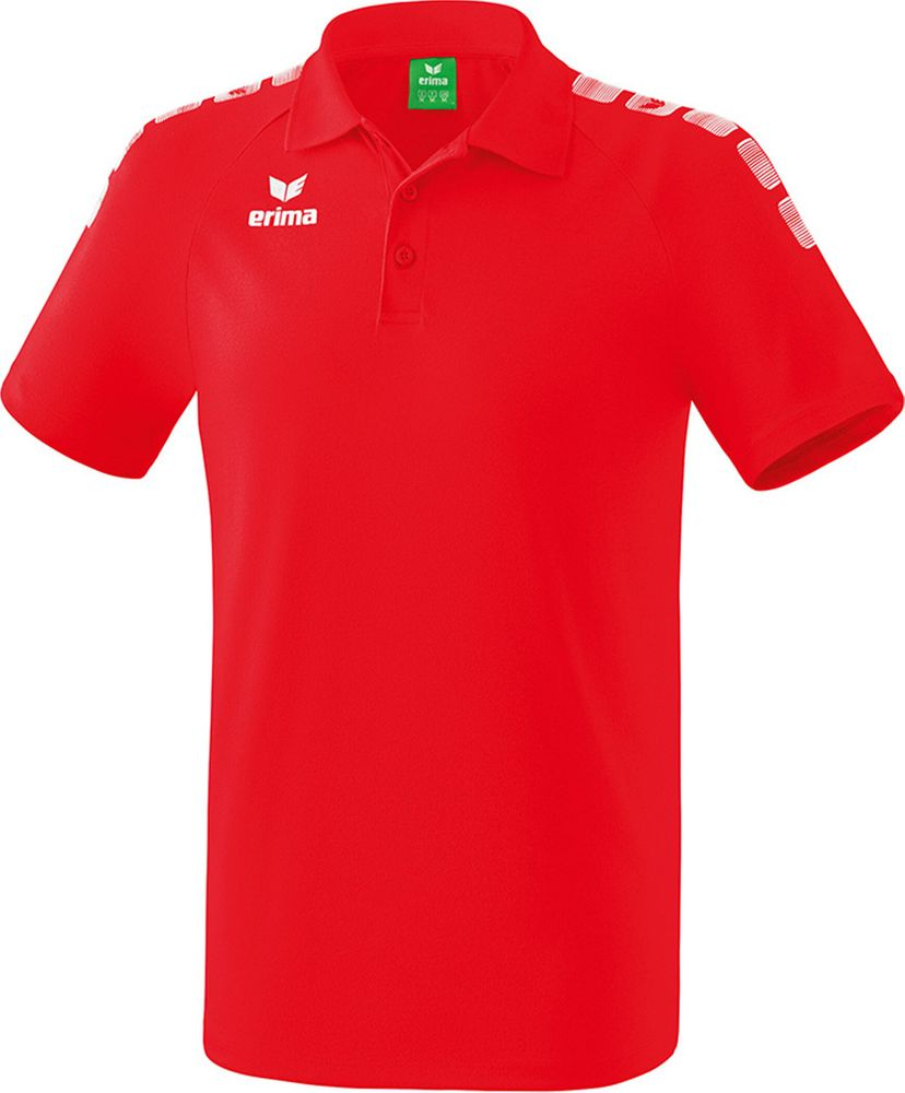Erima Essential 5-C Poloshirt - red/white