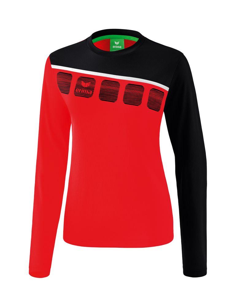 Erima 5-C Longsleeve - red/black/white