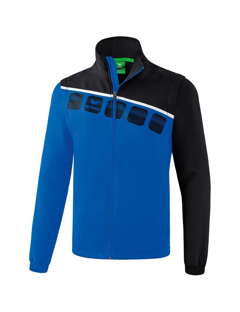 Erima 5-C Jacket With Removable Sleeves - new royal/black/white