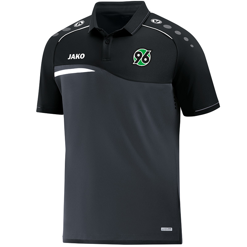 Jako Hannover 96 Polo Competition 2.0 - anthrazit/schwarz