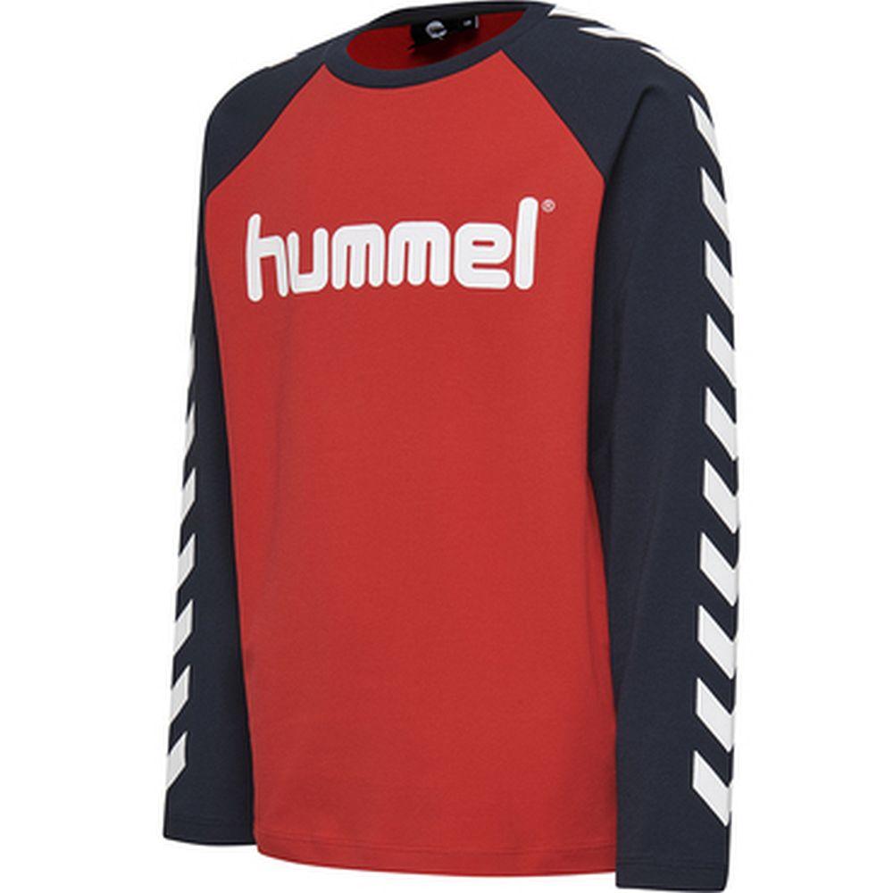 Hummel Hmlboys T-Shirt L/S - flame scarlet