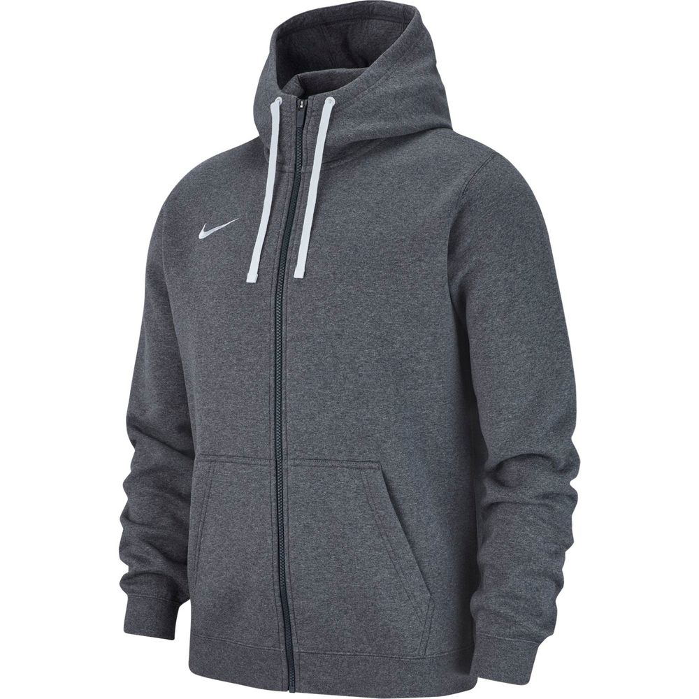 Nike M Hoodie Fz Flc Tm Club19 - charcoal heathr/anthracite/whi
