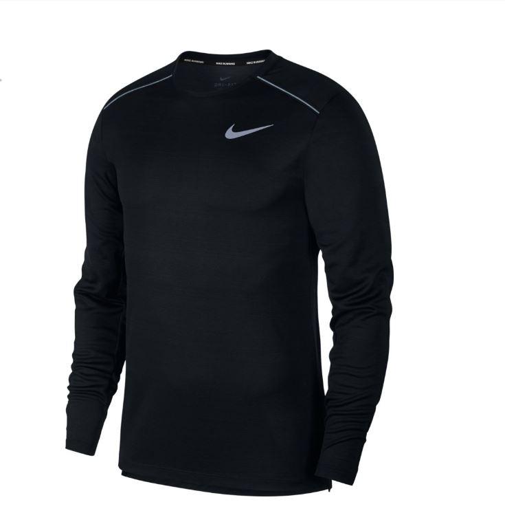 Nike M Nk Dry Miler Top Ls - black/black/reflective silv