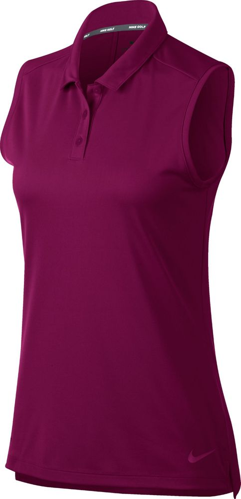 Nike W Nk Dry Polo Sl - true berry/true berry