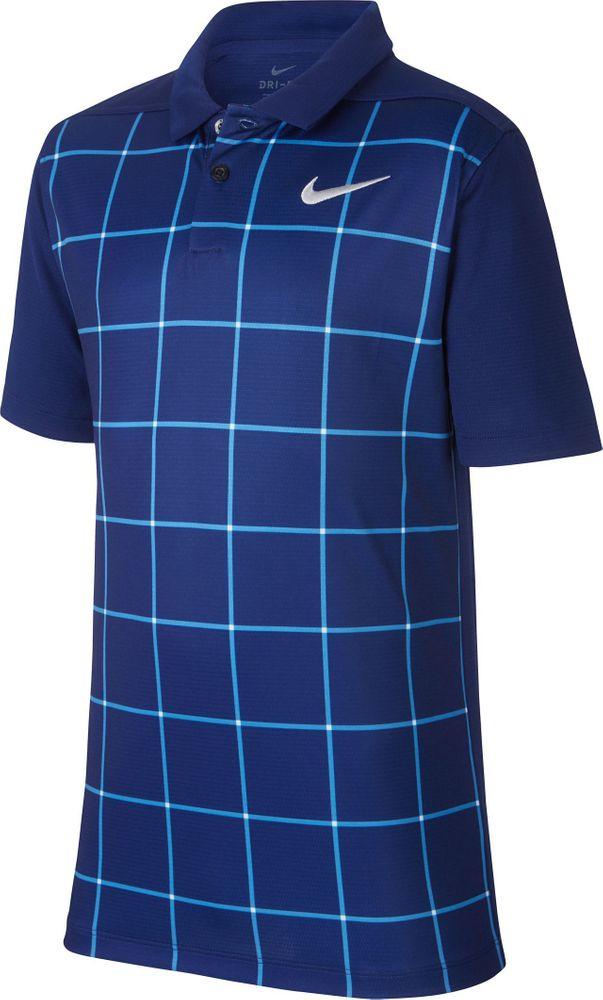 Nike B Nk Dry Polo Grid Prt - blue void/flt silver
