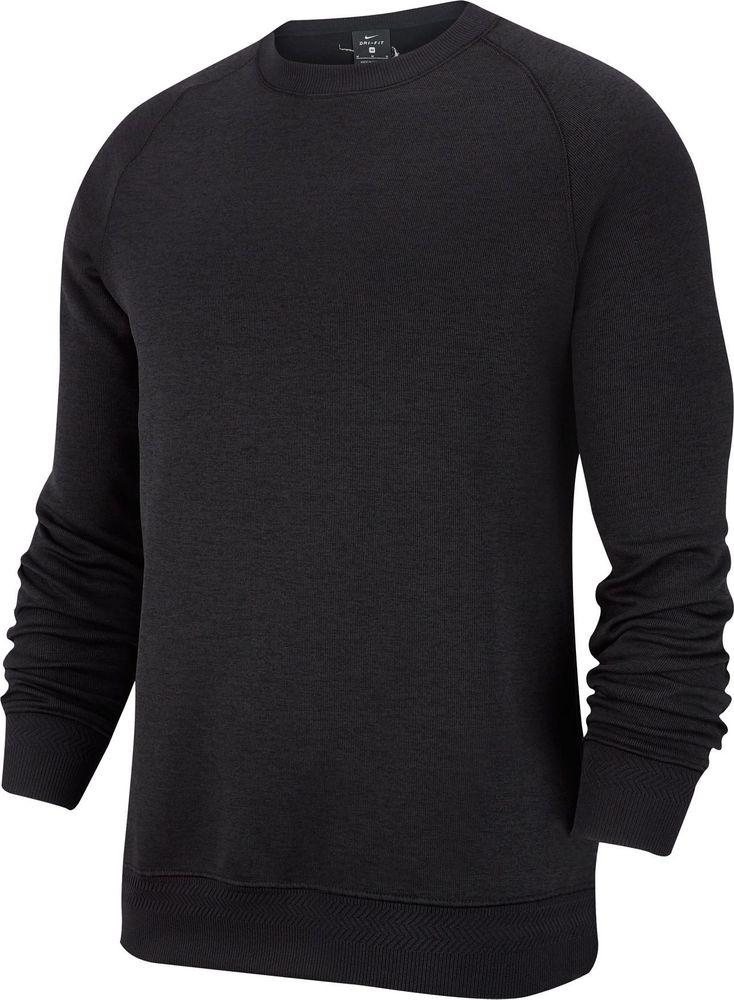 Nike M Nk Dry Top Crew - black/htr/black