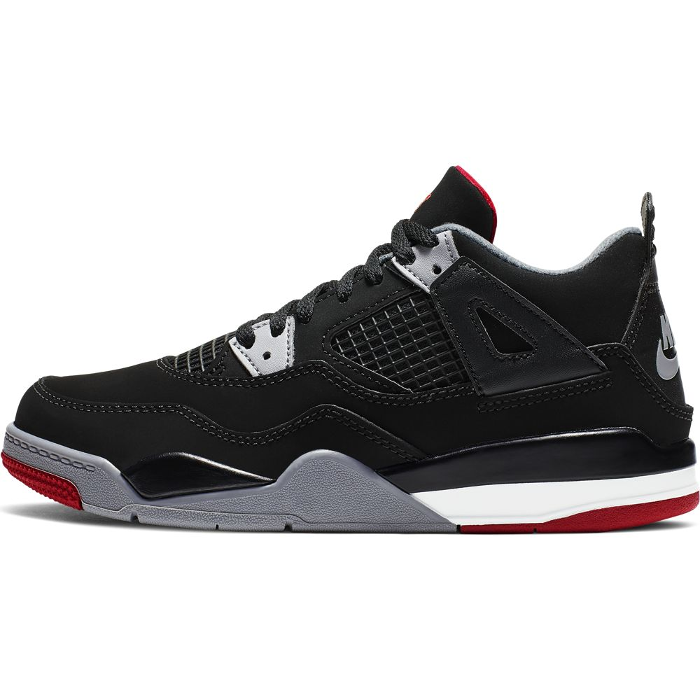 Nike Jordan 4 Retro (Ps) - black/fire red-cement grey-summit w