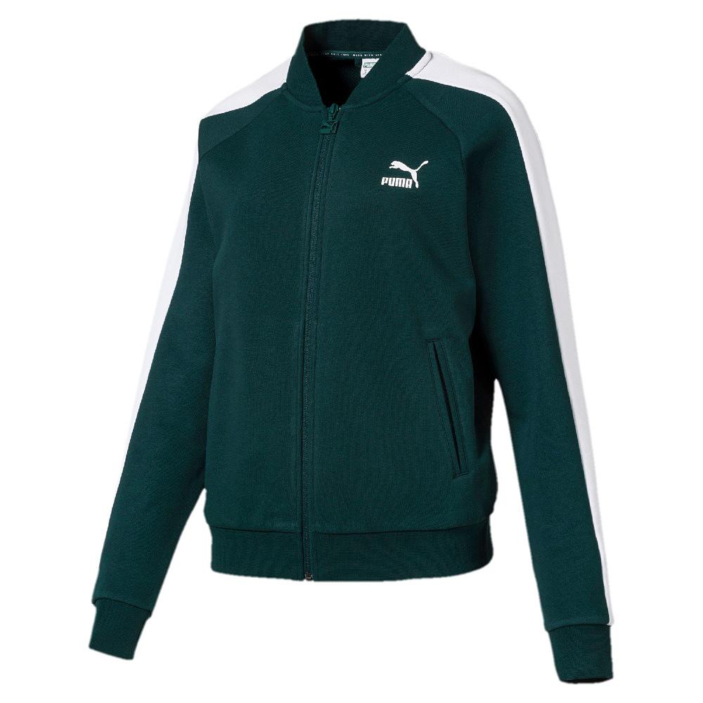 Puma Classics T7 Track Jacket, - ponderosa pine