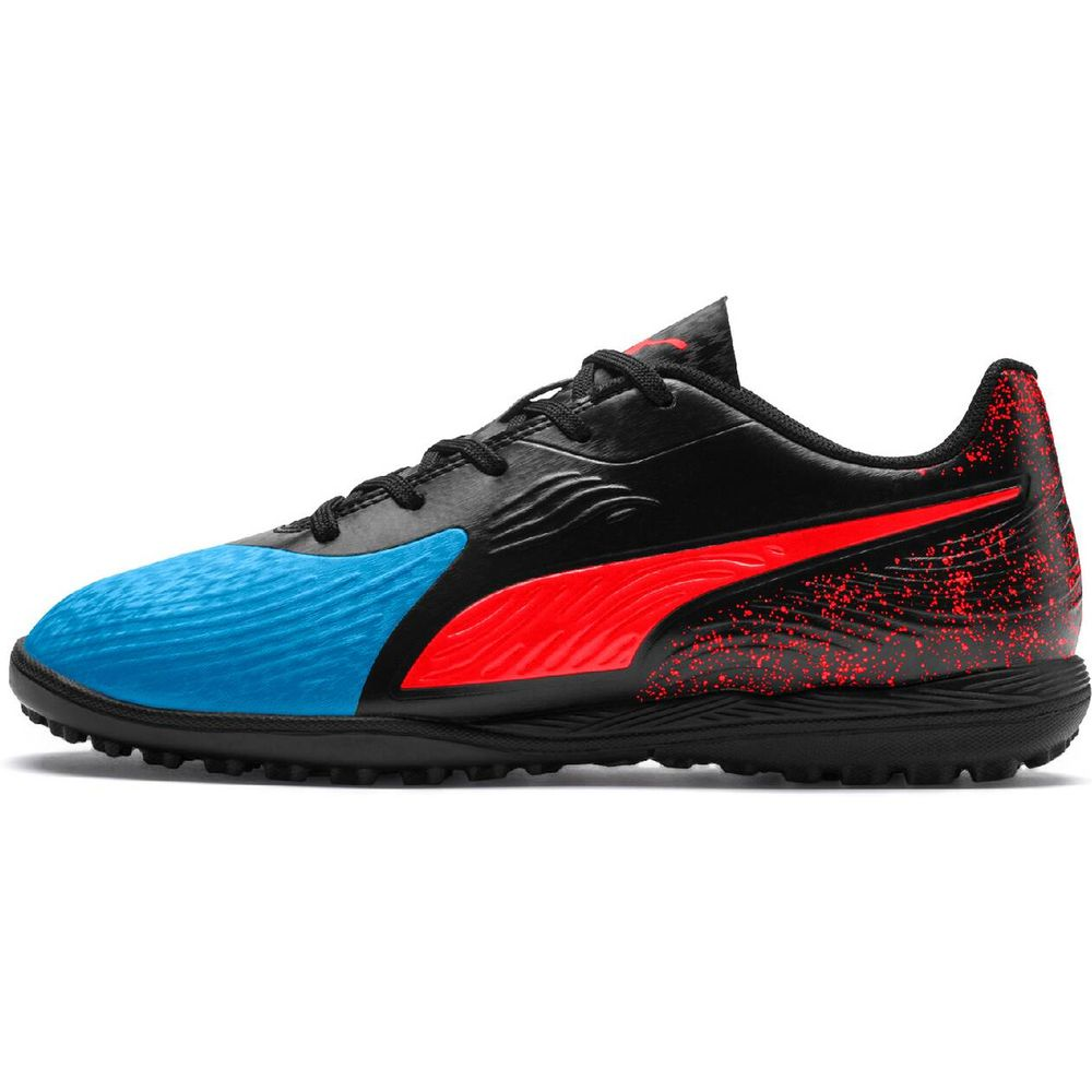 Puma One 19.4 Tt Jr - bleu azur-red blast-puma black