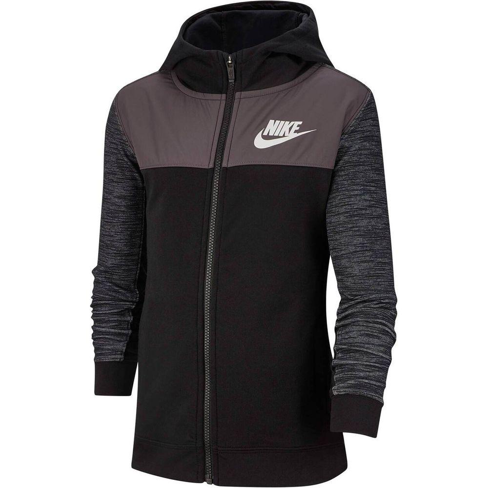 Nike B Nsw Hoodie Fz Advance - black/black/thunder grey/white