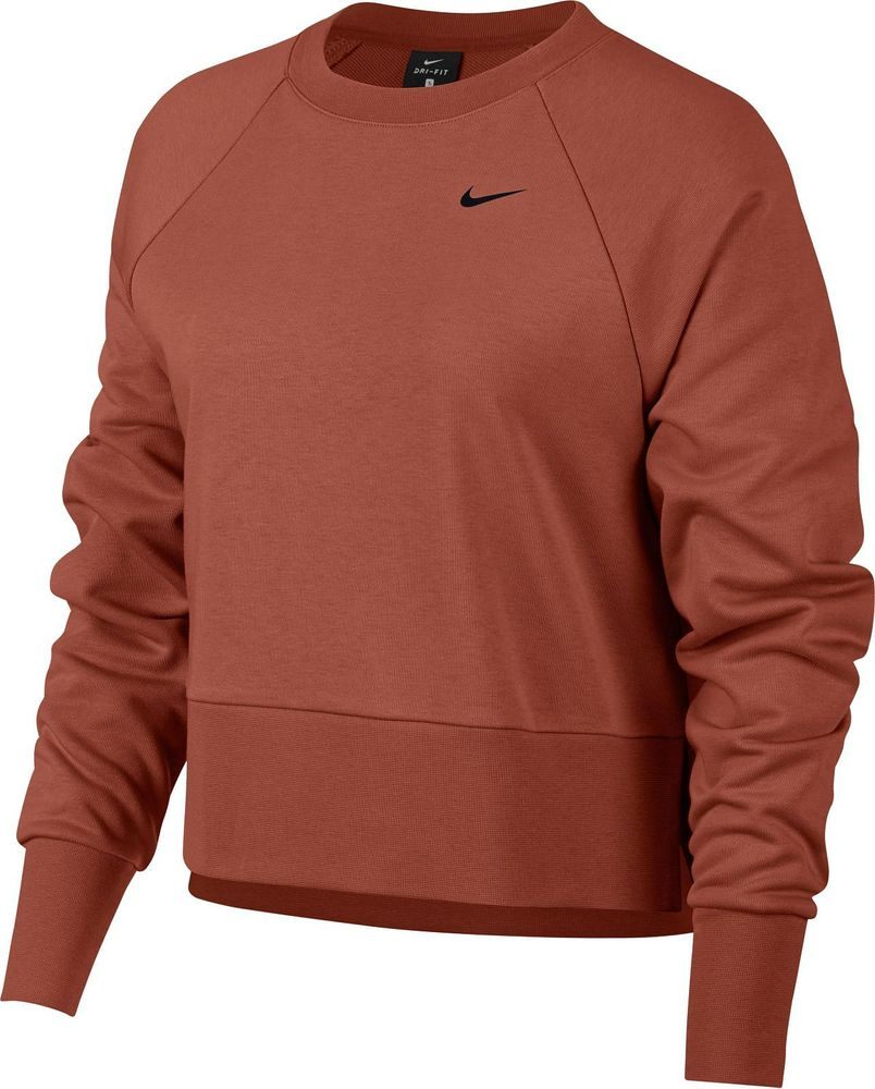 Nike W Nk Dry Top Crew Ls Grx Versa - dusty peach/black